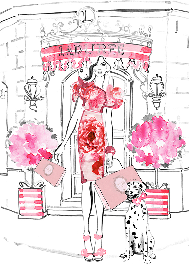 Fashion illustrations by Kerrie Hess. Image provided by Kerrie Hess