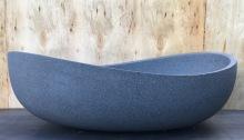 Pietra Bianca onda basin stone charcoal modern