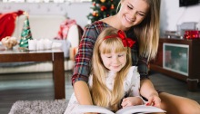 mum and daughter reading