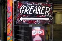 Graffiti bar sign
